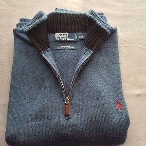 Men's Ralph Lauren Polo 3/4 inch zip up Sweater